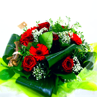 br1a roses rouges  germinis  gypsophyles